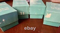 Set of 4 Vintage 1970 Royal Worcester Skippety Tale Porcelain Egg Coddler / Box