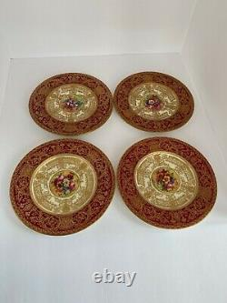 Set of 5 Hand Painted E. Phillips Royal Worcester 7.75 Plates