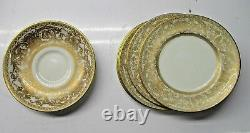 Set of 6 6 5 Plates and 1 Bowl Royal Worcester Embassy Gold Encrusted