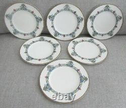 Set of 6 Antique Royal Worcester C2590/10 DONCASTER 8 Salad Plates c. 1925
