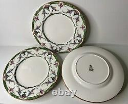 Set of (8) Antique Royal Worcester China Rosemary C2419/9 Dinner Plates 10-5/8