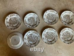 Set of 8 Royal Worcester Sorrel Dragon Salad Plates
