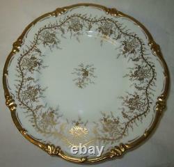 Set of Six (6) Royal Cauldon Kings Plate White Grape & Vine 10.75 Dinner Plates