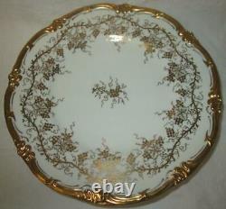 Set of Six (6) Royal Cauldon Kings Plate White Grape & Vine 8 1/8 Salad Plates