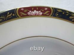 Set of Six (6) Royal Worcester PRINCE REGENT Rimmed Soup Plates 23.8cm (unused)