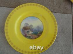 Stunning Set of 5 Royal Worcester Hand Painted Artist Signed Plates