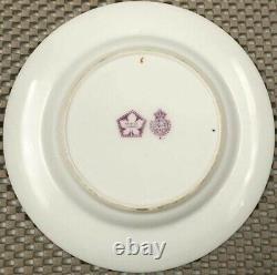 ULTRA RARE 1918 Deco Royal Worcester Jeweled Porcelain Set of 12 Dessert Plates