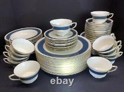 VTG Royal Worcester Belvoir Blue Set Of 73 Pcs Porcelain Plate Tea Cup & Saucer