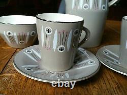 Vintage 1950's Atomic Coffee Set Palissy Kon-Tiki For Two Very Rare