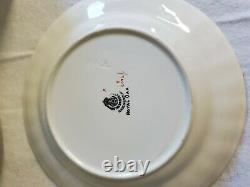 Vintage 26pc Royal Worcester Royal Oak Green Leaf Pattern Dish Set