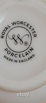 Vintage New 2 Royal Worcester Porcelain Egg Coddler, Strawberry Fair full set