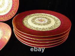 Vintage Set Of 12 Exquisite Puls Czechoslovakia Cabinet Plates Circa 1940