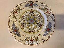 Vintage Set of 4 Royal Worcester Canopic Porcelain Dinner Plates