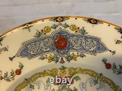 Vintage Set of 6 Royal Worcester Canopic Porcelain Plates with Extra Plate