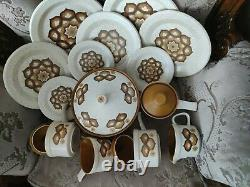 Vintage Set of Pottery Royal Worcester Palissy Kalabar- 2A6B, 14 items excellent