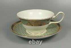 WEDGWOOD SAMARKHAND set of 4 x TEA CUPs AND SAUCERs (PEONY SHAPE) (PERFECT)