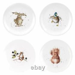Wrendale Designs 16 Piece Tableware set Dinner Plates Side Plates Bowls