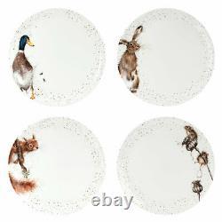 Wrendale Designs 16 Piece Tableware set Dinner Plates Side Plates Cereal Bowls